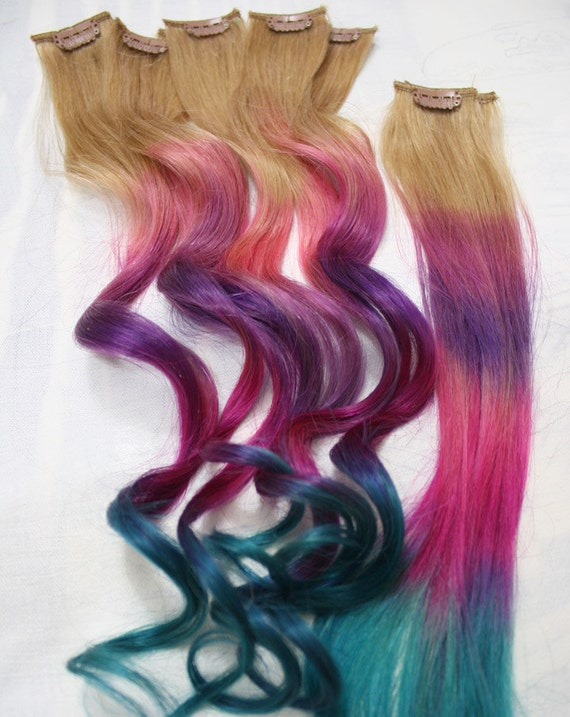 Ombre tie dye hair tips dirty blonde human hair extensions ombre tie dye hair tips dirty blonde human hair extensions colored hair clip hair wefts clip in hair tie dye dipped dyed hair pmusecretfo Images
