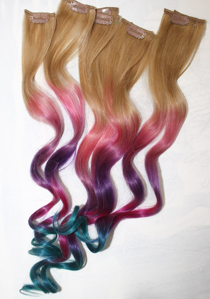 ombre tie dye hair tips dirty blonde human hair extensions. Black Bedroom Furniture Sets. Home Design Ideas