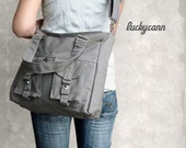 Make your own BAILEY // Pick you own color // Made to order // Messenger / Diaper bag / Shoulder bag / Tote bag / Purse / Gym bag