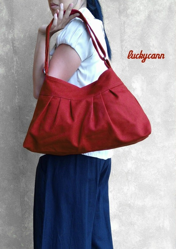 CLEARANCE SALE / Angelica // Dark Red / Lined with Dark Grey / Ready to ship / Diaper bag / Shoulder bag / Gym Bag / School Bag / Purse /