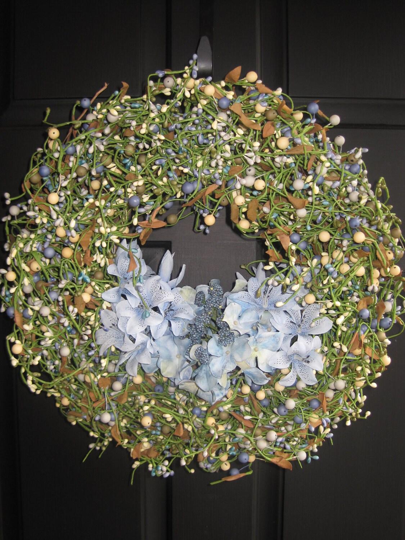 Berry Wreath Spring Wreath Outdoor By Everbloomingoriginal