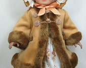 Mid- 1800 century Coat and Bonnet that fit 18 inch doll like American girl doll, Marie Grace, Cecile