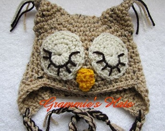 Sleepy eyed owl for newborn (0 - 3 mon)