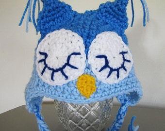 sleepy blue owl for newborn (0 - 3 mon)