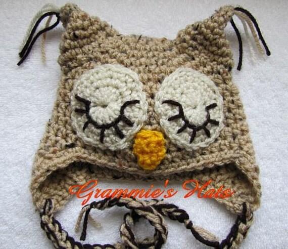 Sleepy eyed owl  (3-6 mon)