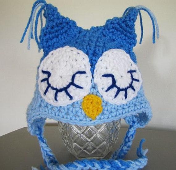 sleepy blue owl  (3-6 mon)