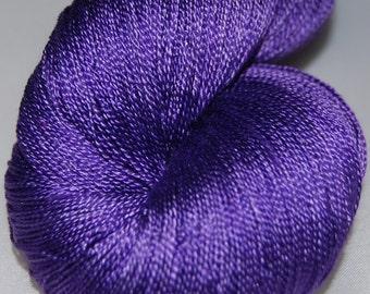 Violet- Mulberry silk 100% (2ply ,) handdyed yarn