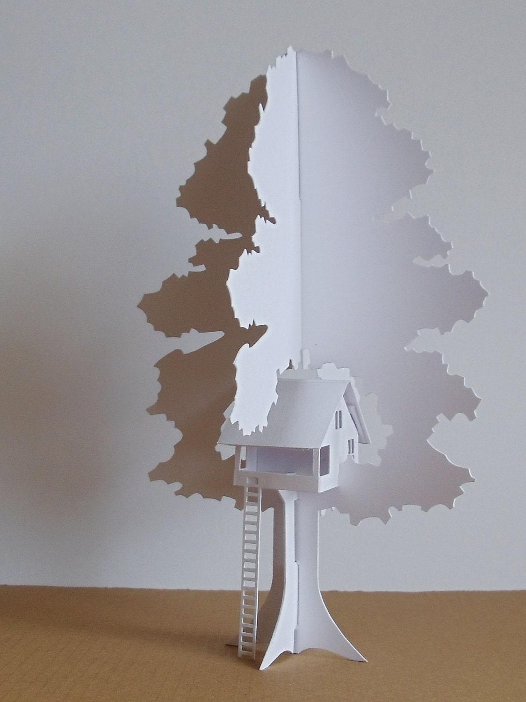 Folding tree house by thefoldedforest etsy for Tree house blueprint maker