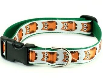"Dog Collar or Martingale - Owls - 1"" Dog Collar"