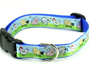 "Clearance - Ready to Ship - 1"" Ribbon Dog Collar Lightweight - Choose your Style"