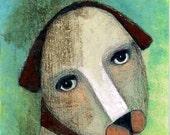 "Dog 8"" x 10"" Original Painting Print Animal Bliss"