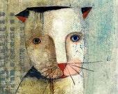 "Cat 1 8"" x 10"" Original Painting Print Animal Bliss"