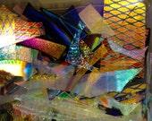 Dichroic Glass Scrap CBS Colors by Sandberg 4oz MTO
