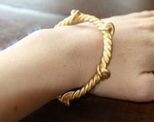 SALE - Vintage Gold Bracelet - She's Only Happy In The Sun