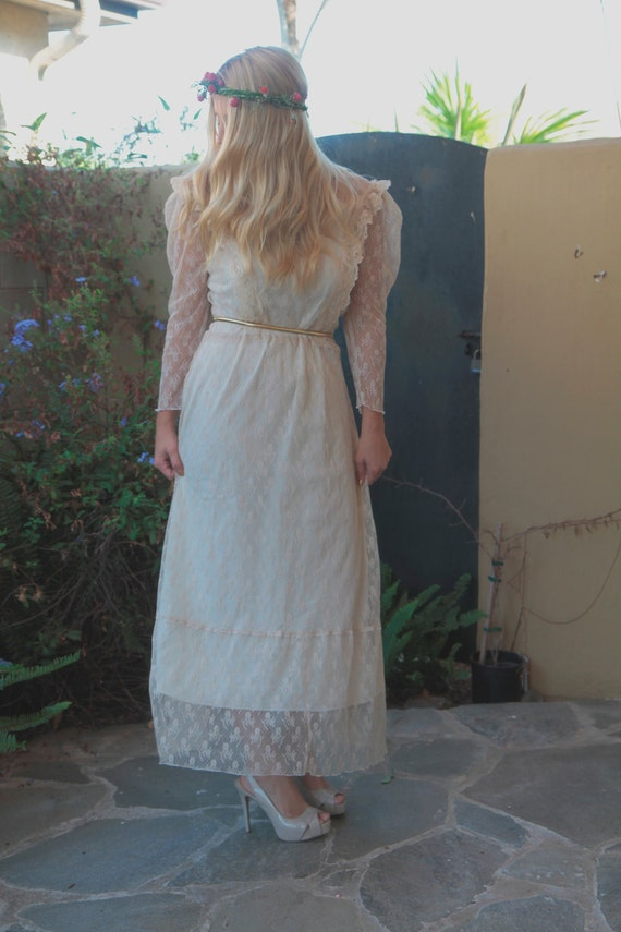 Boho wedding dress naomi by daughtersofsimone on etsy for Wedding dress dry cleaning denver