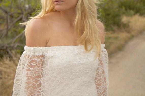 Vintage Style Wedding Dresses, Off The Shoulder - Audra