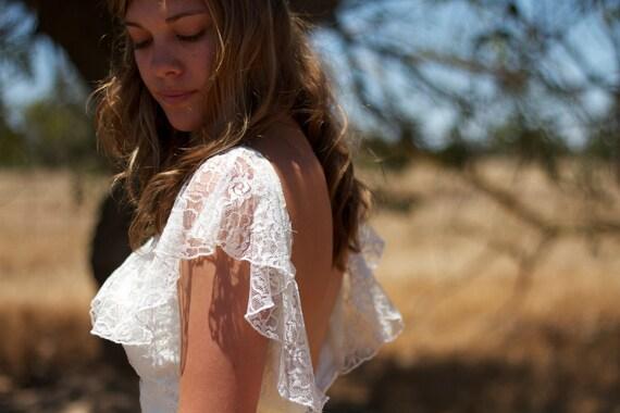 Short Sleeved Vintage Wedding Dresses - Rose