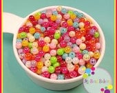 300 Pieces 6mm AB Acrylic Round Sparkle Beads Rainbow Mix DIY Crafts