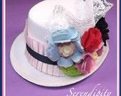 "New ""Serendipity"" M2M Matilda Jane Mini Felt Top Hat Photo Shoot Prop Girls Toddlers Classy"