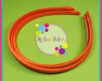 Set of 3 Torrid Orange 8mm Satin Headband Blanks DIY Crafts