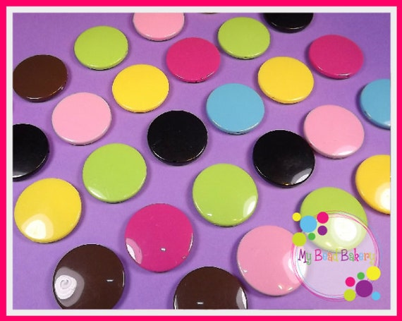 Reserved For Beadilicious Boutique 6 Pieces Large 31.5mm Opaque Flat Disc Candy Beads Mix DIY Crafts 6 Color Choices U PICK