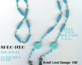 """27"""" Eye Glass Holder Necklace with Turquoise n Beads SN0508-23 Free Ship USA"""