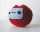 Red & Light Blue Monster Chuppy Amigurumi
