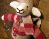 Needle Felted Sheep in Recycled Felted Sheep's Clothing, Shelby