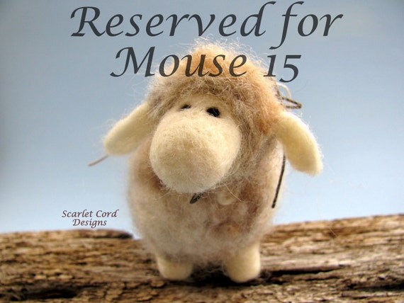 Needle Felted Wooly Sheep - Felted Animal Sculpture
