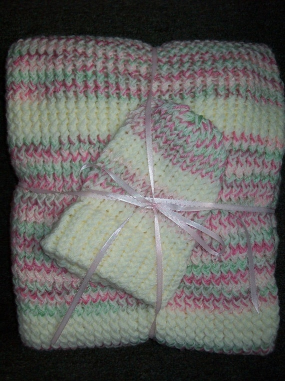 Handmade Baby Blanket & Baby Hat