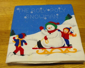 Roly Poly Snowman Cloth Storybook