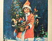 Christmas Santa Claus girl c. 1920's