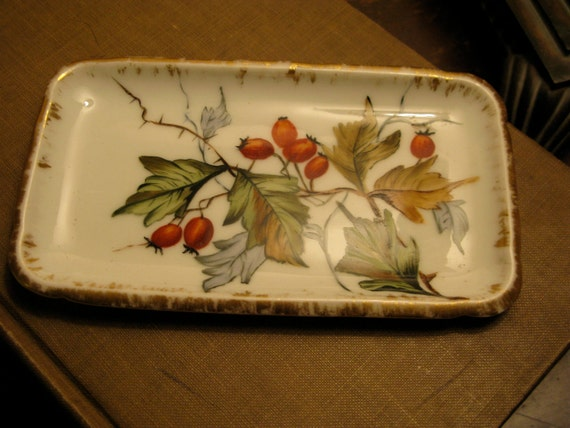 reserved for Linda Sweet Little China Winter Berry Tray Haviland Limoges