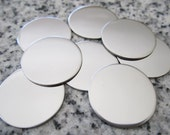 "3/4"" (19MM) Round Disc Stamping Blanks, 22g Stainless Steel - AWESOME Silver Alternative R06N"