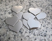 "3/4"" x 5/8"" (18mm x 15mm) Heart Stamping Blank, 22g Stainless Steel - AWESOME Silver Alternative H06-05"