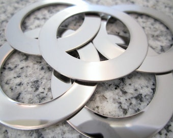 "1 1/2"" (38MM) Round Washer Stamping Blanks, 22g Stainless Steel - AWESOME Silver Alternative RW12N"