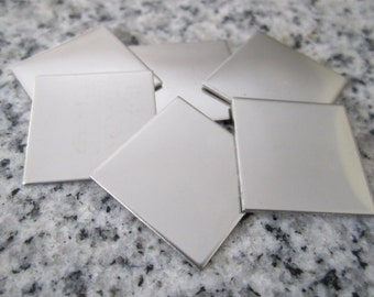 "3/4"" (19MM) Square Stamping Blanks, 22g Stainless Steel - AWESOME Silver Alternative S06"
