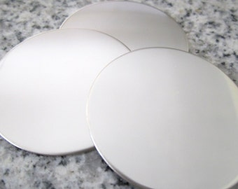 """1 1/2"""" (38MM) Round Disc Stamping Blanks, 22g Stainless Steel - AWESOME Silver Alternative R12"""