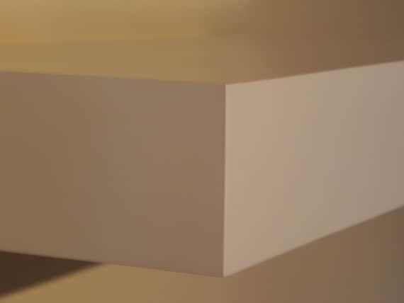 Items Similar To White Satin Floating Shelve Set Of 2