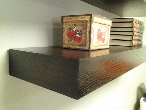 Floating Wood Shelf 48 Long Wall Shelf Espresso By MrSelecta