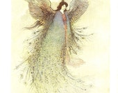Vintage 1923 Japanese Print  The Moon Maiden By Warwick Goble . Ideal For Framing