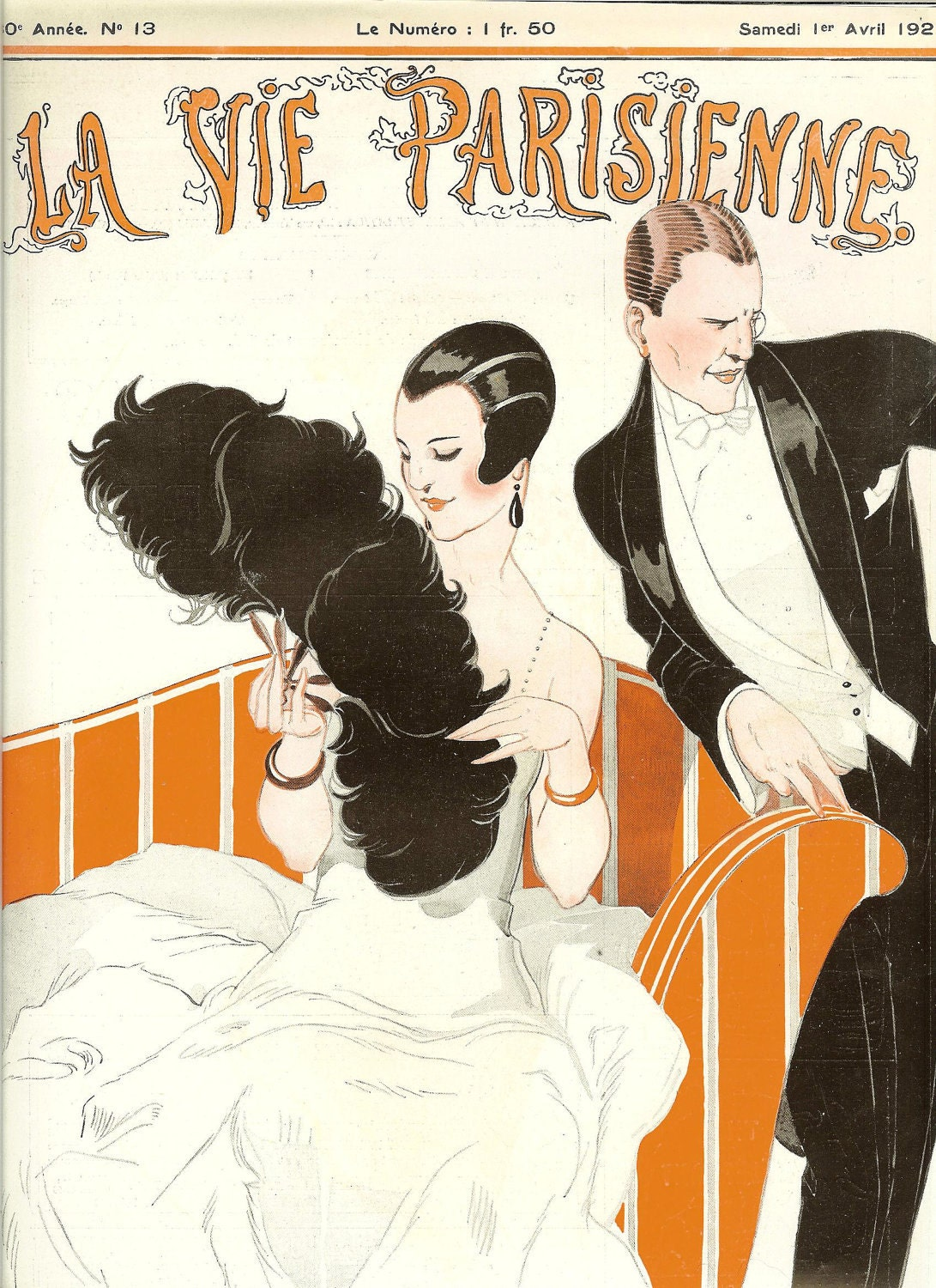 1920s art deco la vie parisienne french fashion magazine cover. Black Bedroom Furniture Sets. Home Design Ideas