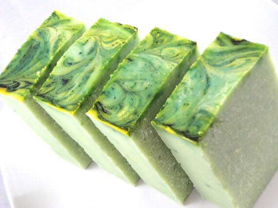 Coconut Lime Soap, Handmade Cold Process, Vegan Eco Friendly
