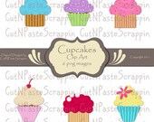 Cupcakes Digital Clip Art - 6 PNG Images - Personal or Commercial Use