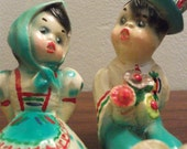 Vintage Sitting Ceramic Couple