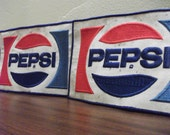 Pair of large Pepsi Patches