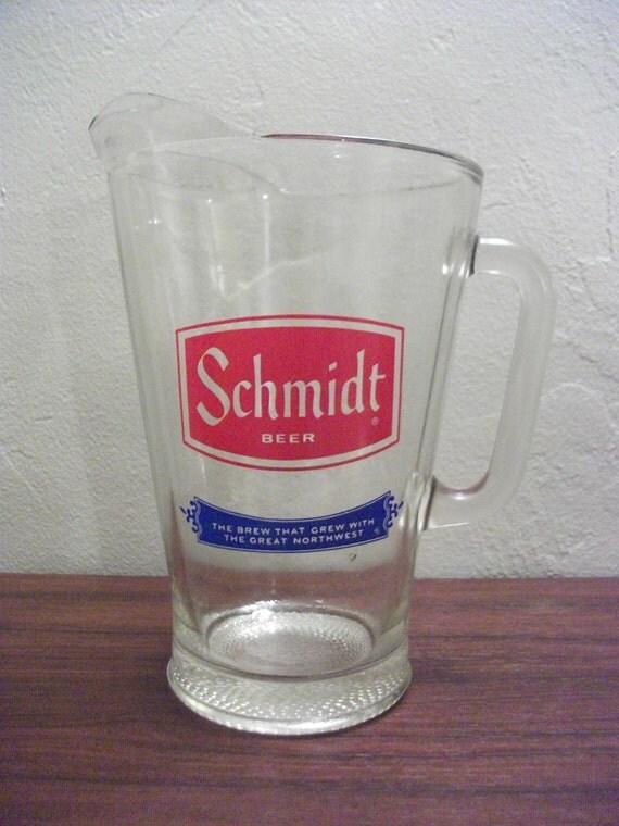 vintage schmidt beer pitcher by primepickins on etsy. Black Bedroom Furniture Sets. Home Design Ideas