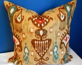 Duralee Ikat pillow cover 18 x 18