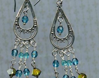 Spring Green & Blue Sky Earrings