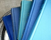 Vintage Books in Shabby Shades of Aqua Blue - Instant Collection of 5 - SALE